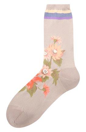 Женские хлопковые носки ANTIPAST бежевого цвета, арт. AM-600C   Фото 1