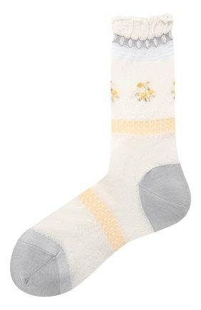 Женские хлопковые носки ANTIPAST белого цвета, арт. AM-542A | Фото 1