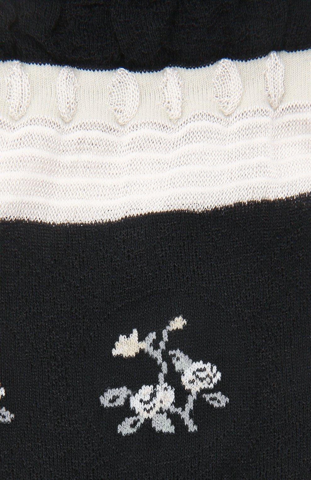 Женские хлопковые носки ANTIPAST черного цвета, арт. AM-542A | Фото 2