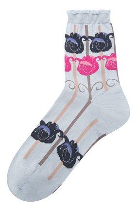 Женские хлопковые носки ANTIPAST синего цвета, арт. AM-517A | Фото 1