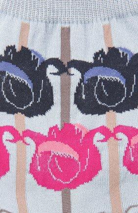Женские хлопковые носки ANTIPAST синего цвета, арт. AM-517A | Фото 2