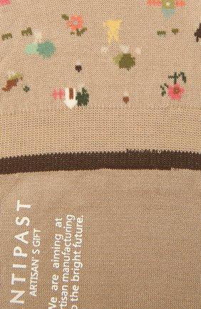 Женские хлопковые подследники ANTIPAST бежевого цвета, арт. AM-131AS | Фото 2