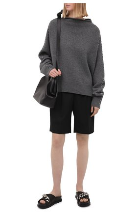Женские кожаные шлепанцы VIC MATIE черного цвета, арт. 1Z5680D.Z06C8JB323 | Фото 2