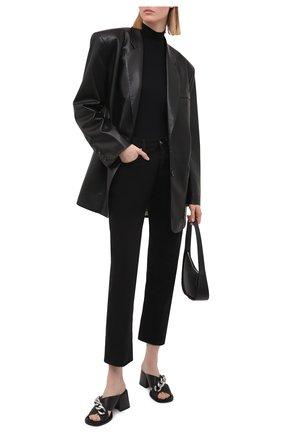 Женские кожаные мюли VIC MATIE черного цвета, арт. 1Z5786D.Z14C8JB323 | Фото 2
