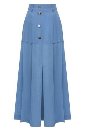 Женская юбка из вискозы REJINA PYO голубого цвета, арт. D176/VISC0SE | Фото 1