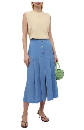 Женская юбка из вискозы REJINA PYO голубого цвета, арт. D176/VISC0SE   Фото 2