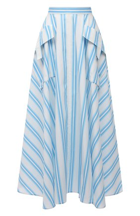 Женская хлопковая юбка REJINA PYO голубого цвета, арт. D183/0RGANIC C0TT0N   Фото 1
