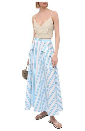 Женская хлопковая юбка REJINA PYO голубого цвета, арт. D183/0RGANIC C0TT0N | Фото 2
