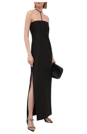 Женское платье REJINA PYO черного цвета, арт. F308/SHINY TWILL   Фото 2
