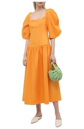 Женское платье REJINA PYO оранжевого цвета, арт. F317/VISC0SE BLEND   Фото 2
