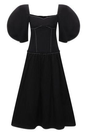Женское хлопковое платье REJINA PYO черного цвета, арт. F317/0RGANIC C0TT0N | Фото 1