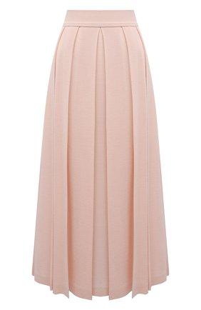 Женская юбка из кашемира и шелка LORO PIANA светло-розового цвета, арт. FAL5239   Фото 1