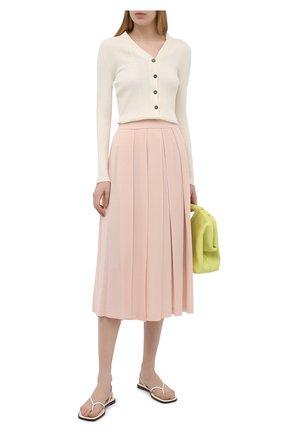 Женская юбка из кашемира и шелка LORO PIANA светло-розового цвета, арт. FAL5239   Фото 2