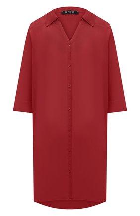 Женская хлопковая туника DNUD PARIS бордового цвета, арт. B 2040 | Фото 1