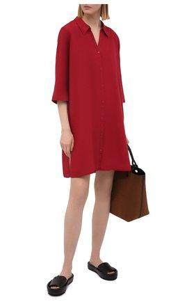 Женская хлопковая туника DNUD PARIS бордового цвета, арт. B 2040 | Фото 2