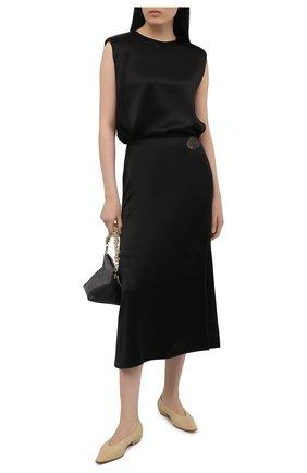 Женская юбка BY MALENE BIRGER черного цвета, арт. Q69248007/C0RIS. | Фото 2