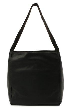 Женский сумка-шопер JOSEPH черного цвета, арт. JF004980   Фото 1 (Сумки-технические: Сумки-шопперы; Материал: Натуральная кожа; Размер: large)