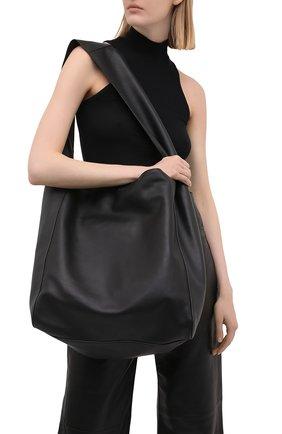 Женский сумка-шопер JOSEPH черного цвета, арт. JF004980   Фото 2 (Сумки-технические: Сумки-шопперы; Материал: Натуральная кожа; Размер: large)