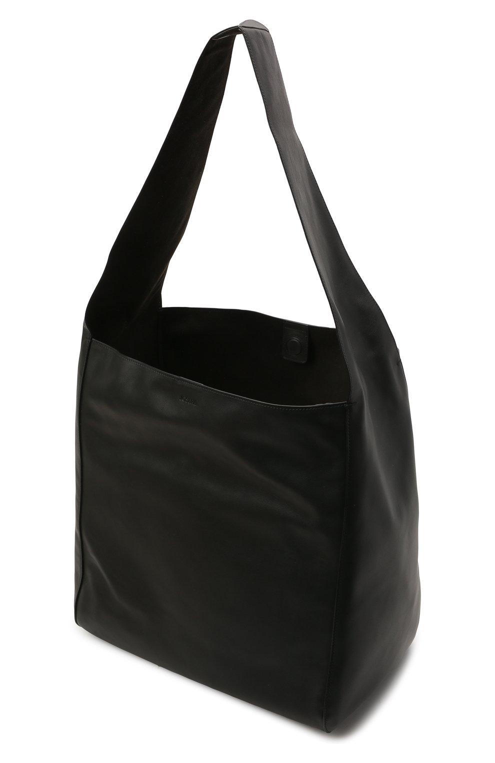 Женский сумка-шопер JOSEPH черного цвета, арт. JF004980   Фото 4 (Сумки-технические: Сумки-шопперы; Материал: Натуральная кожа; Размер: large)
