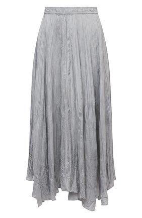 Женская шелковая юбка JOSEPH серого цвета, арт. JF005257   Фото 1