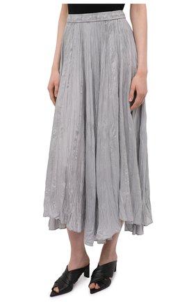 Женская шелковая юбка JOSEPH серого цвета, арт. JF005257   Фото 3