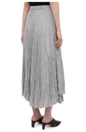 Женская шелковая юбка JOSEPH серого цвета, арт. JF005257   Фото 4