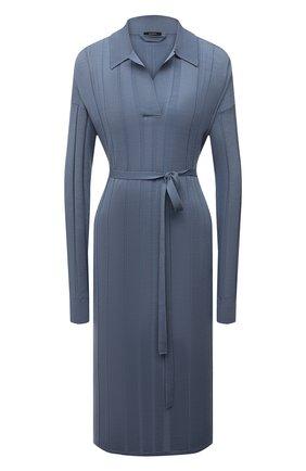 Женское шерстяное платье JOSEPH голубого цвета, арт. JF005303   Фото 1