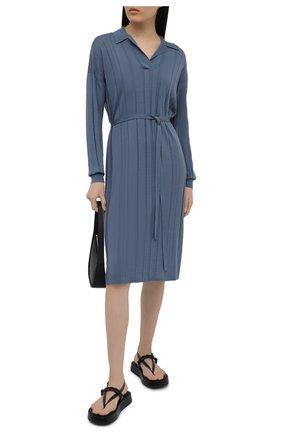Женское шерстяное платье JOSEPH голубого цвета, арт. JF005303   Фото 2