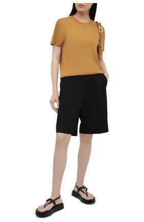 Женская хлопковая футболка JOSEPH оранжевого цвета, арт. JF005318   Фото 2