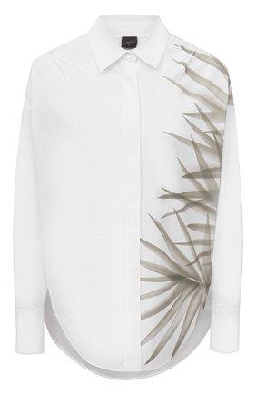 Женская хлопковая рубашка LORENA ANTONIAZZI белого цвета, арт. P2163CA001/3434   Фото 1