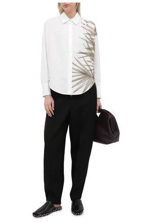 Женская хлопковая рубашка LORENA ANTONIAZZI белого цвета, арт. P2163CA001/3434   Фото 2