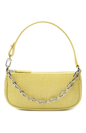 Женская сумка rachel mini BY FAR желтого цвета, арт. 21CRMIRACUSDSMA   Фото 1 (Сумки-технические: Сумки top-handle; Материал: Натуральная кожа; Размер: mini)