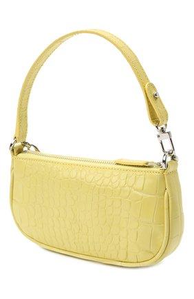 Женская сумка rachel mini BY FAR желтого цвета, арт. 21CRMIRACUSDSMA   Фото 3 (Сумки-технические: Сумки top-handle; Материал: Натуральная кожа; Размер: mini)