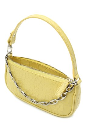 Женская сумка rachel mini BY FAR желтого цвета, арт. 21CRMIRACUSDSMA   Фото 4 (Сумки-технические: Сумки top-handle; Материал: Натуральная кожа; Размер: mini)