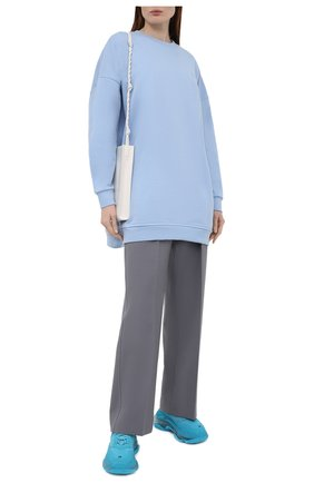 Женский хлопковый свитшот GANNI голубого цвета, арт. T2922 | Фото 2
