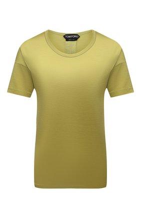 Женская шелковая футболка TOM FORD зеленого цвета, арт. TSJ383-FAX835 | Фото 1