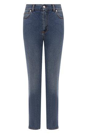 Женские джинсы ALEXANDER MCQUEEN синего цвета, арт. 658121/QMAA8 | Фото 1