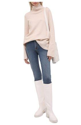 Женские джинсы ALEXANDER MCQUEEN синего цвета, арт. 658121/QMAA8 | Фото 2