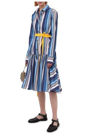 Женское хлопковое платье MARNI синего цвета, арт. ABMA0263Q0/TCZ52 | Фото 2