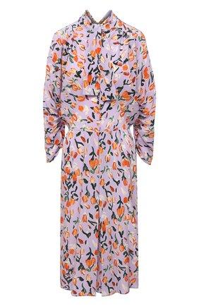 Женское шелковое платье MARNI сиреневого цвета, арт. ABMA0670A0/UTSF62 | Фото 1