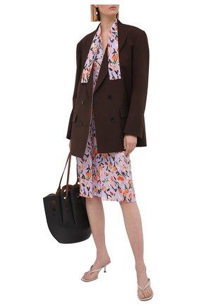 Женское шелковое платье MARNI сиреневого цвета, арт. ABMA0670A0/UTSF62 | Фото 2