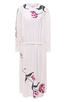 Женское хлопковое платье MARNI белого цвета, арт. ABMA0671A0/UTCZ78 | Фото 1