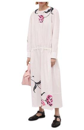 Женское хлопковое платье MARNI белого цвета, арт. ABMA0671A0/UTCZ78 | Фото 2