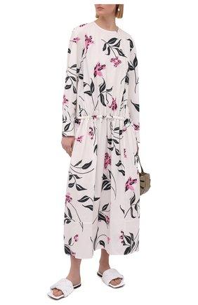 Женское хлопковое платье MARNI разноцветного цвета, арт. ABMA0671Q0/UTCZ55 | Фото 2