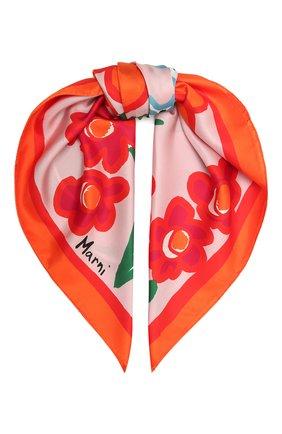Женский шелковый платок MARNI розового цвета, арт. ACMC0065P2/USCR22 | Фото 1