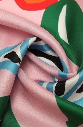 Женский шелковый платок MARNI розового цвета, арт. ACMC0065P2/USCR22 | Фото 2