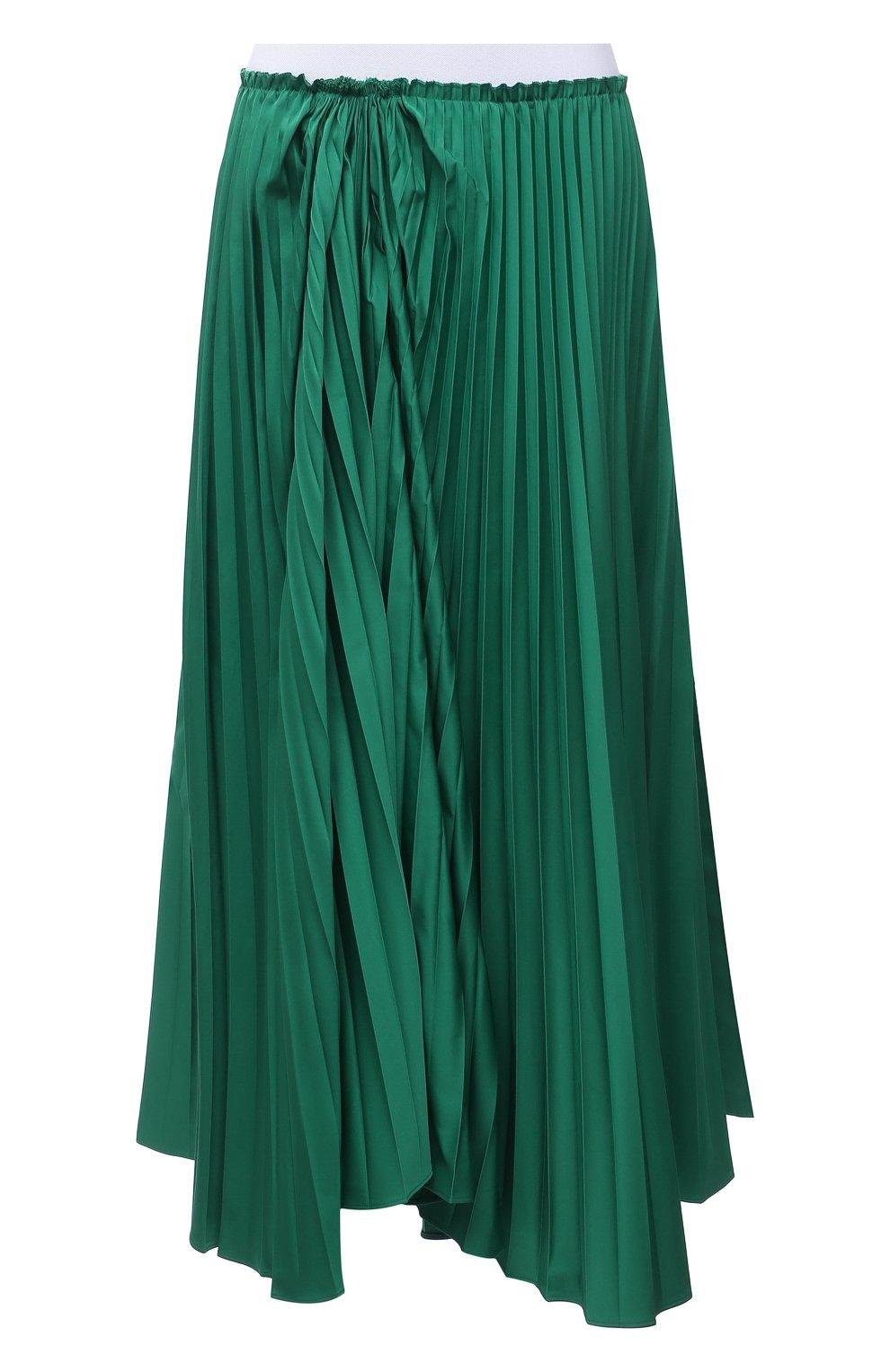 Женская плиссированная юбка MARNI зеленого цвета, арт. G0MA0362F0/TP690   Фото 1