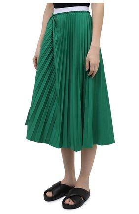 Женская плиссированная юбка MARNI зеленого цвета, арт. G0MA0362F0/TP690   Фото 3