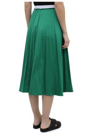 Женская плиссированная юбка MARNI зеленого цвета, арт. G0MA0362F0/TP690   Фото 4