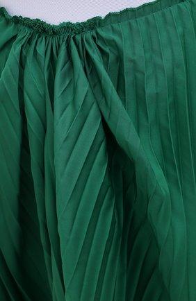 Женская плиссированная юбка MARNI зеленого цвета, арт. G0MA0362F0/TP690   Фото 5